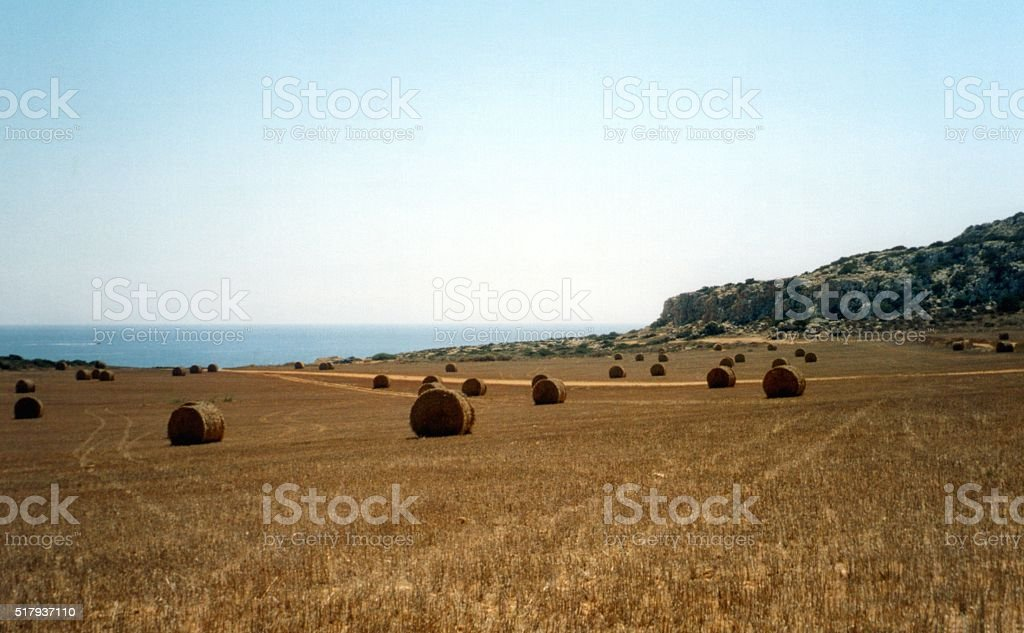Valley in Cape Greco, Cyprus stock photo