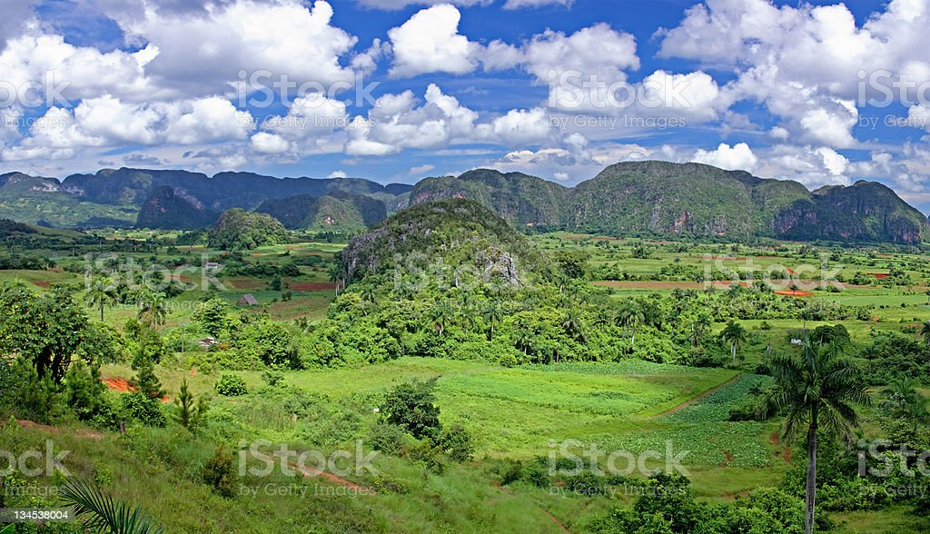 valley  in Cuba royalty-free stock photo