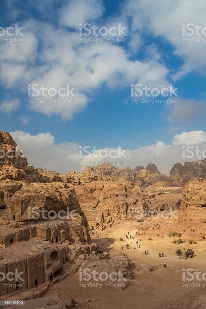 Valley in Petra Jordan stock photo