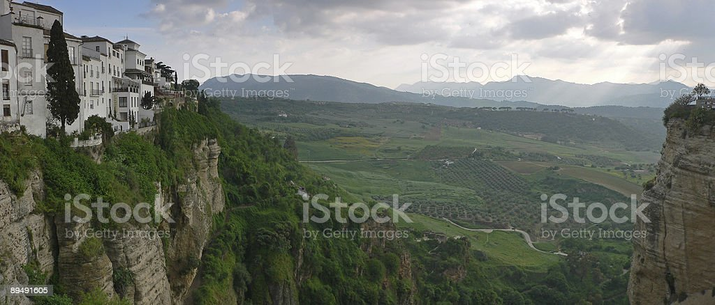 Valley in Ronda, Spain royalty-free stock photo