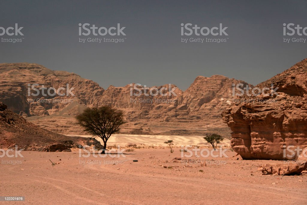 Valley in Sinai stock photo