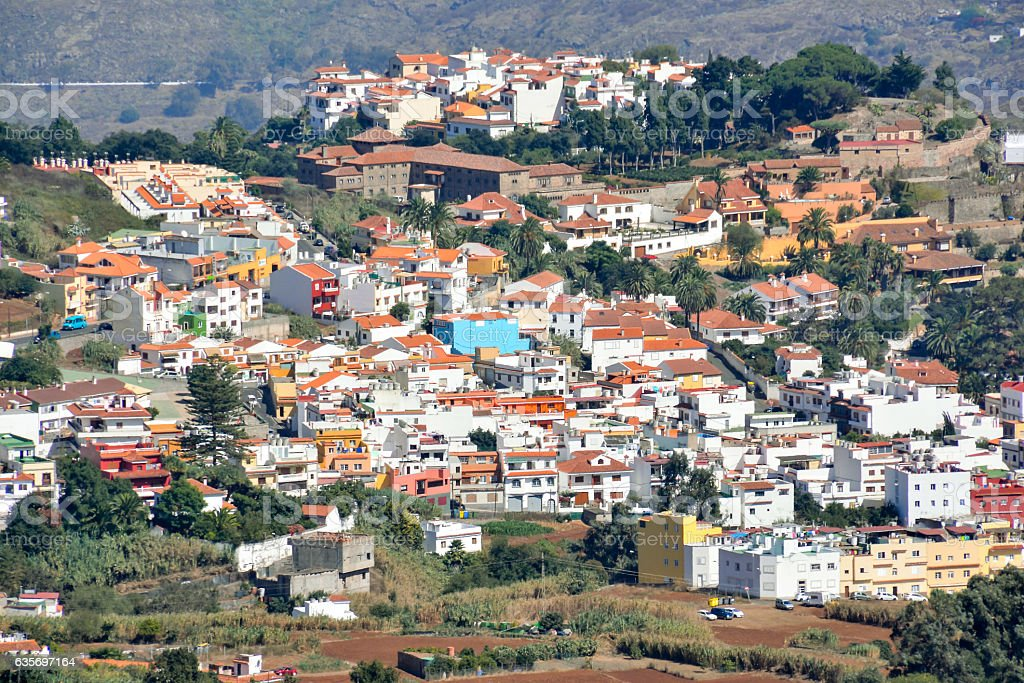 Valley in the Canary Islands stock photo
