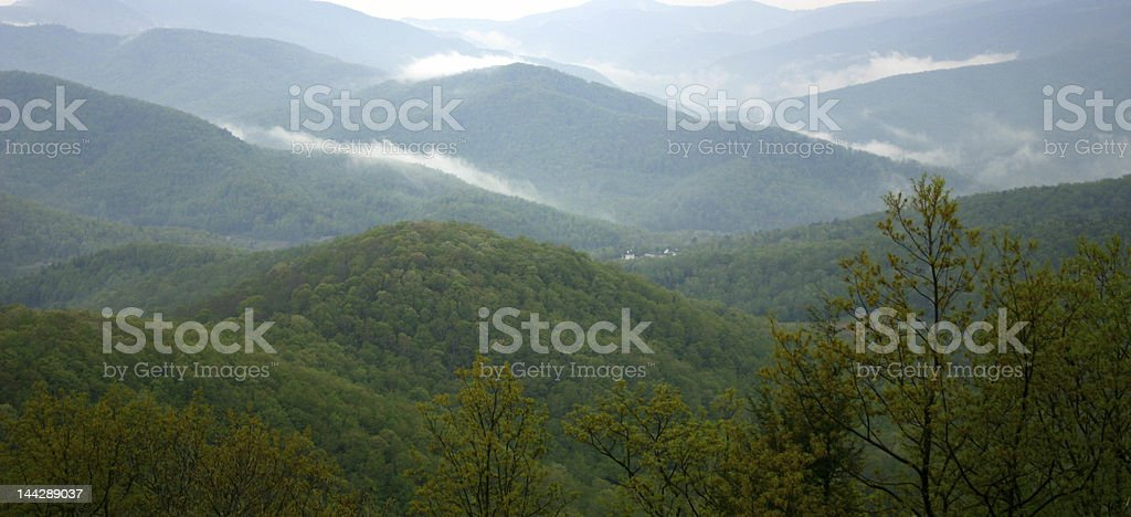 Valley Mist - Blue Ridge Mountains royalty-free stock photo
