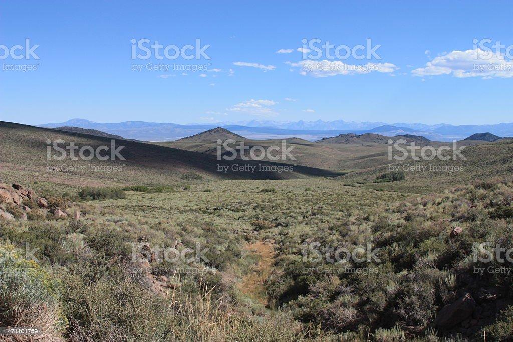 Valley & Mountains stock photo