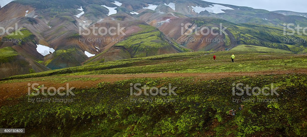 Valley National Park Landmannalaugar, Iceland stock photo