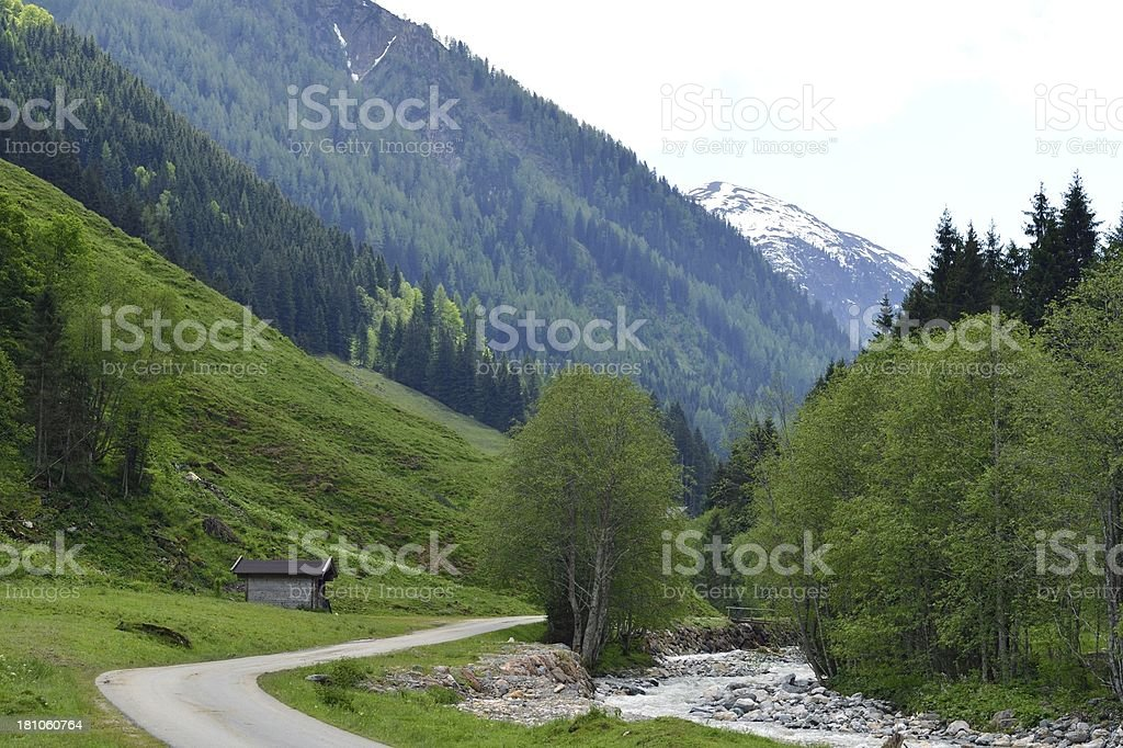 Valley of Aschau in Austria stock photo