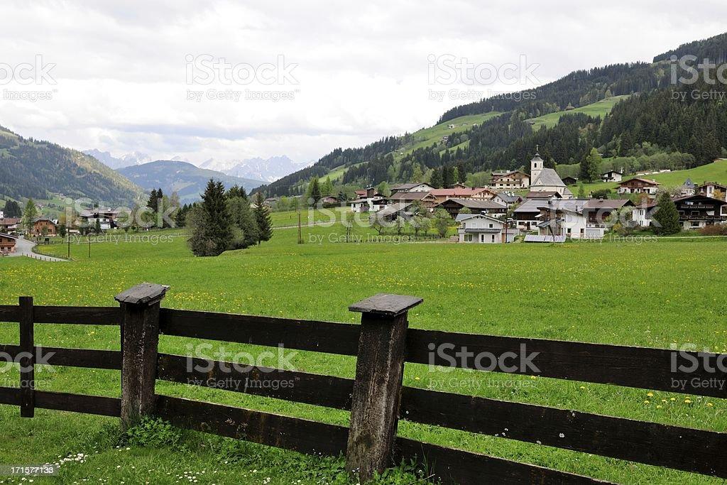 Valley of Aschau stock photo