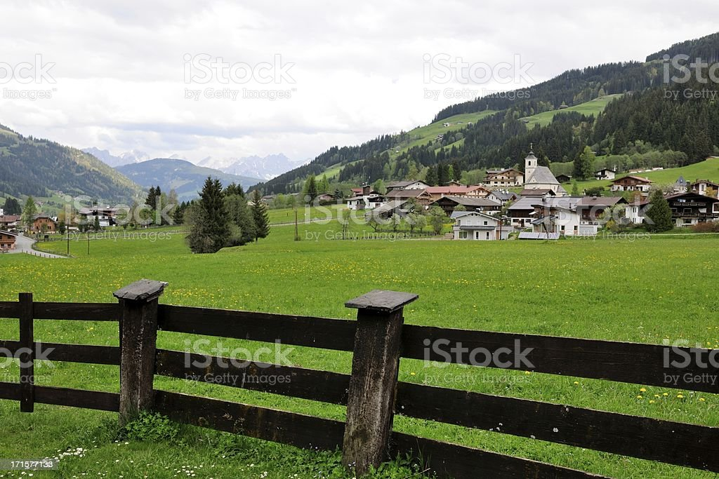 Valley of Aschau stock photo