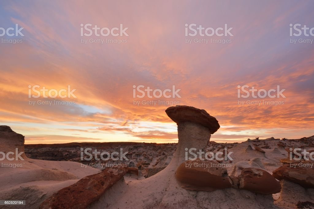 Valley of Dreams, Ah-Shi-Sle-Pah Wilderness Study Area stock photo