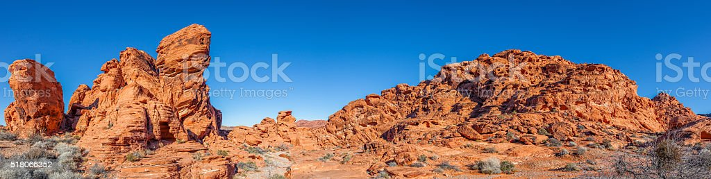 Valley of Fire Landscape Panoramic stock photo