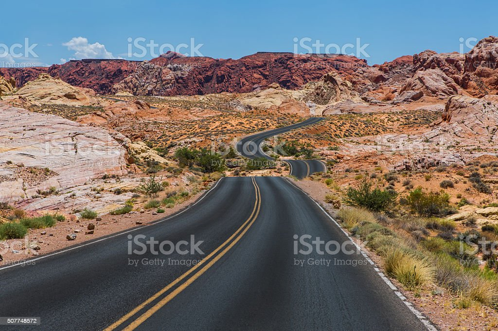 Valley of Fire. Nevada USA stock photo