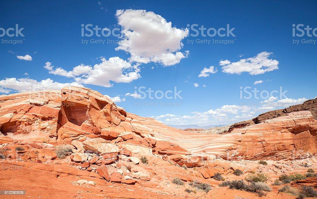 Valley of Fire wild landscape, Nevada, USA stock photo