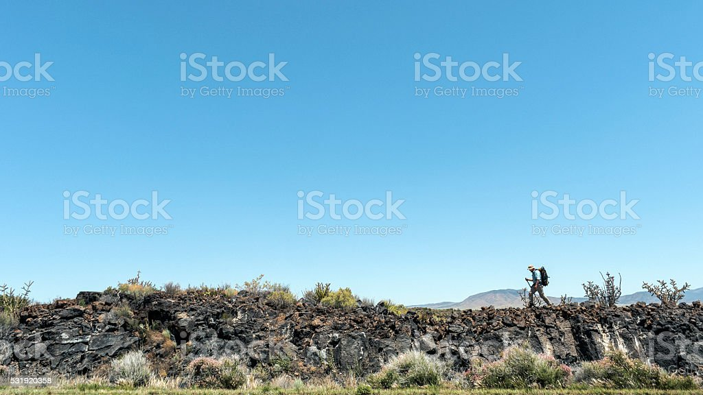 Valley of Fires, NM, US stock photo