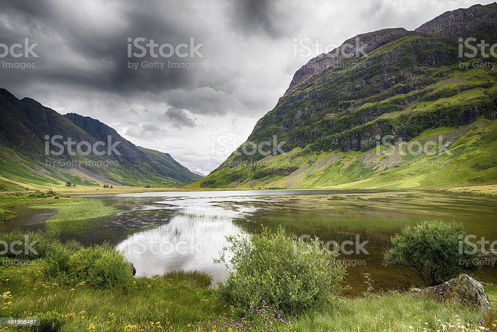 valley of Glencoe stock photo