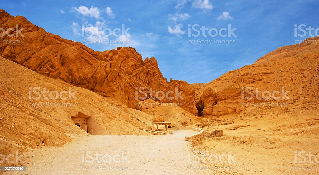 Valley of Kings, in Luxor (Ancient Thebes) west bank, Egypt. stock photo