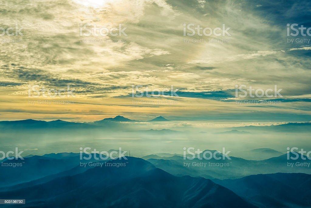 Vale do México, vista panorâmica - fotografia de stock