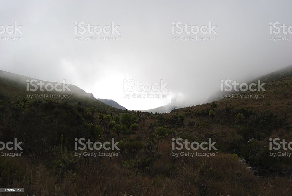Valley of Mist stock photo