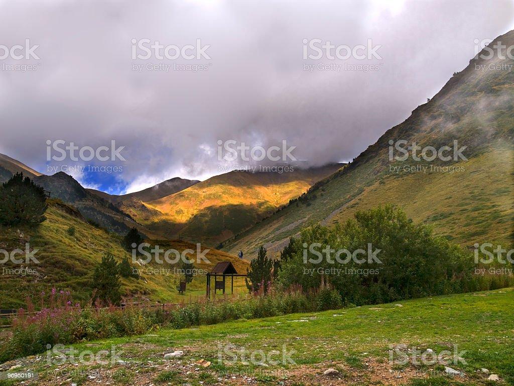 Valley of Nuria stock photo