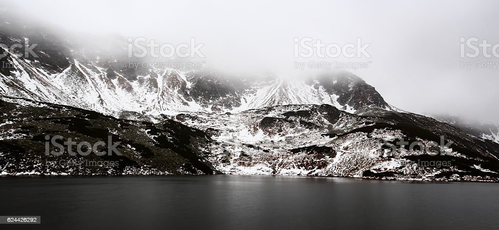 Valley Of The Five Ponds, Tatra Mountains, Poland, November stock photo