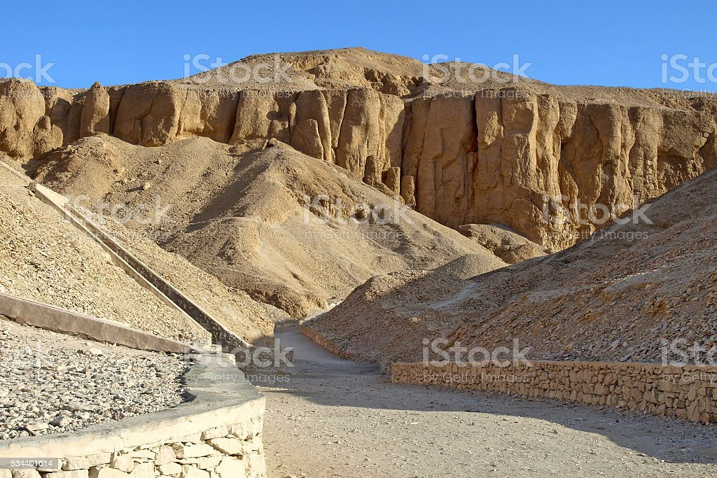 Valley of the Kings in Luxor stock photo