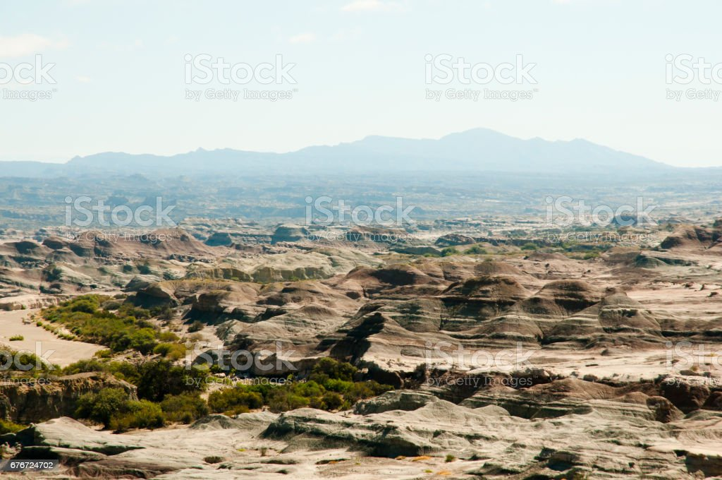 Valley of the Moon - Ischigualasto Provincial Park - Argentina stock photo