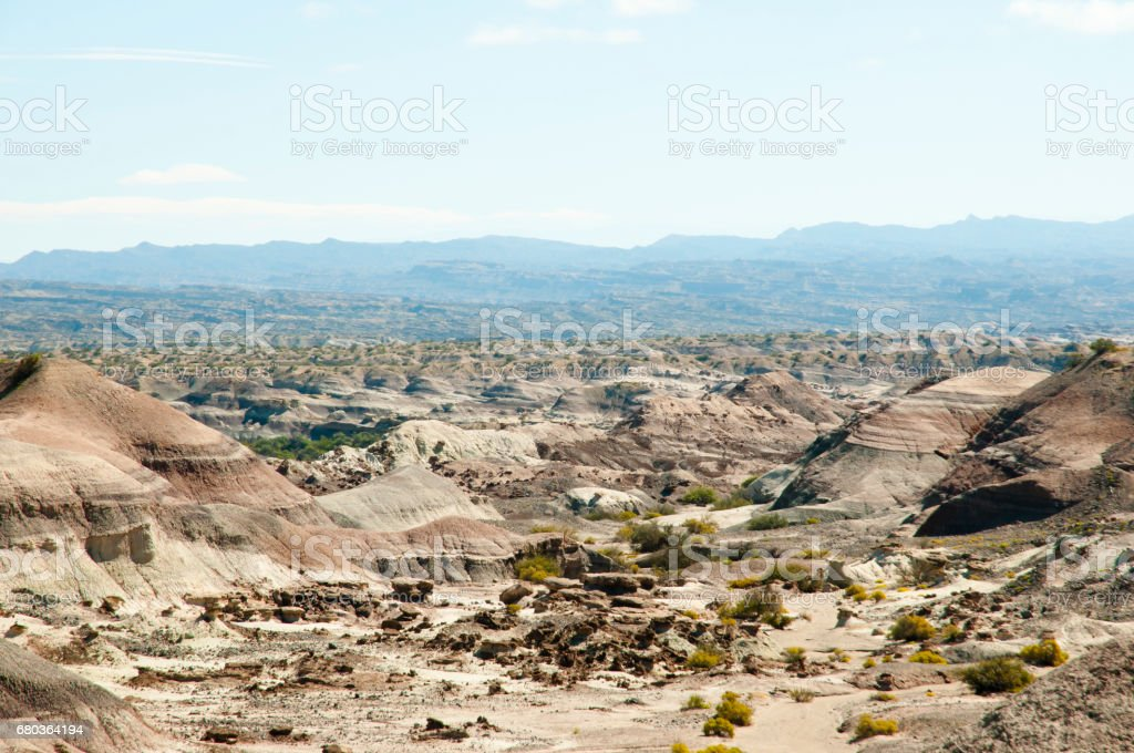 Valley of the Moon - Ischigualasto Provincial Park - Argentina stock photo