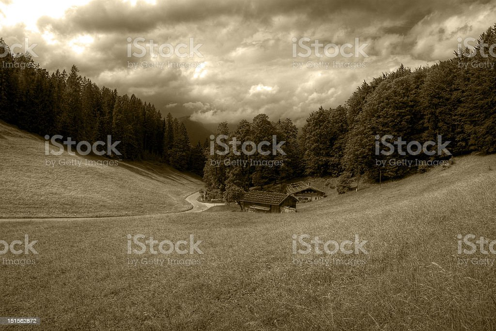 Valley of the past stock photo