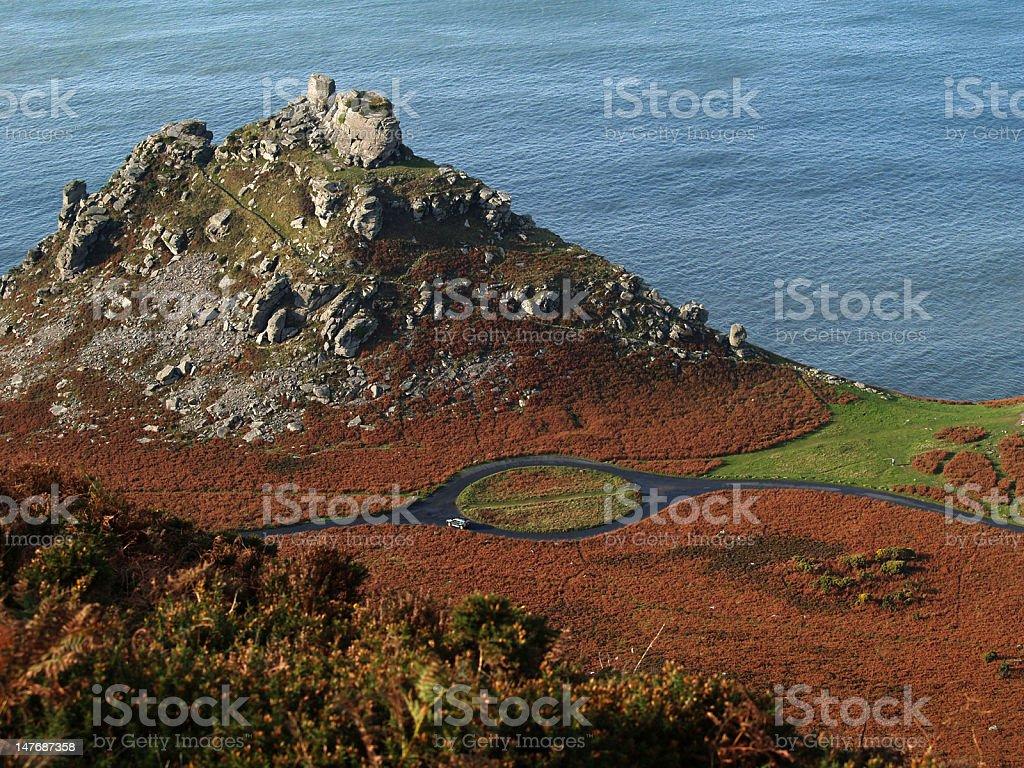 Valley of the Rocks, Devon, UK stock photo