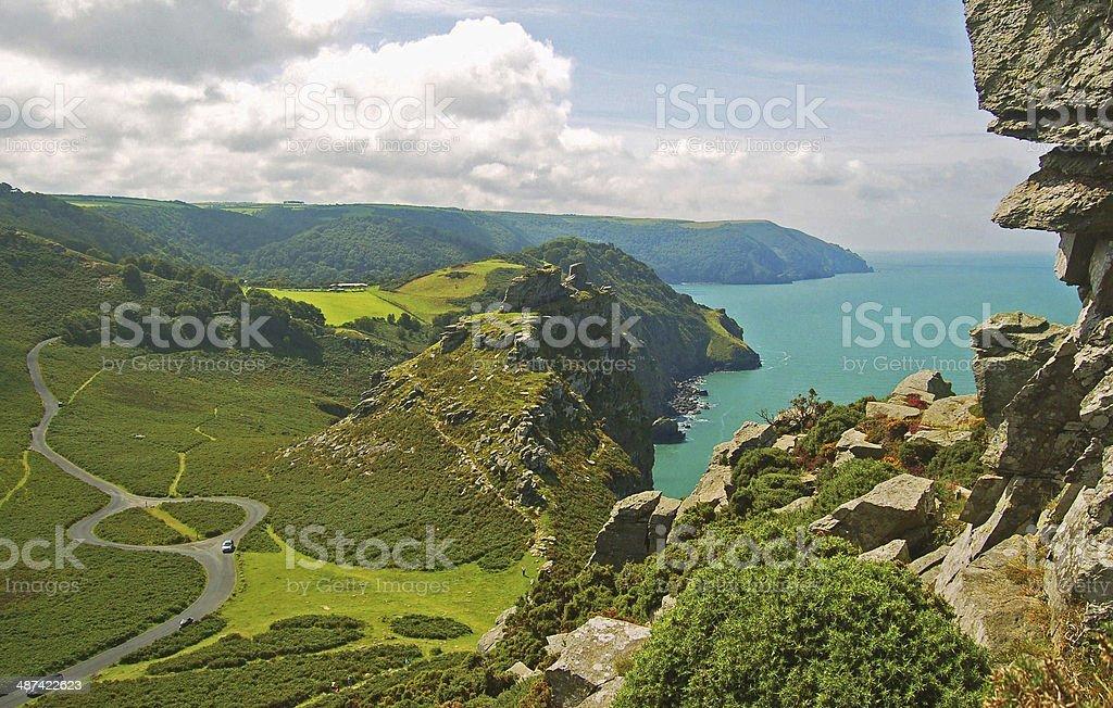 Valley of the Rocks. North Devon stock photo