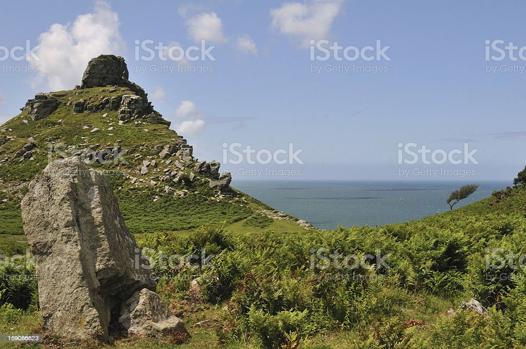 Valley of the Rocks. stock photo