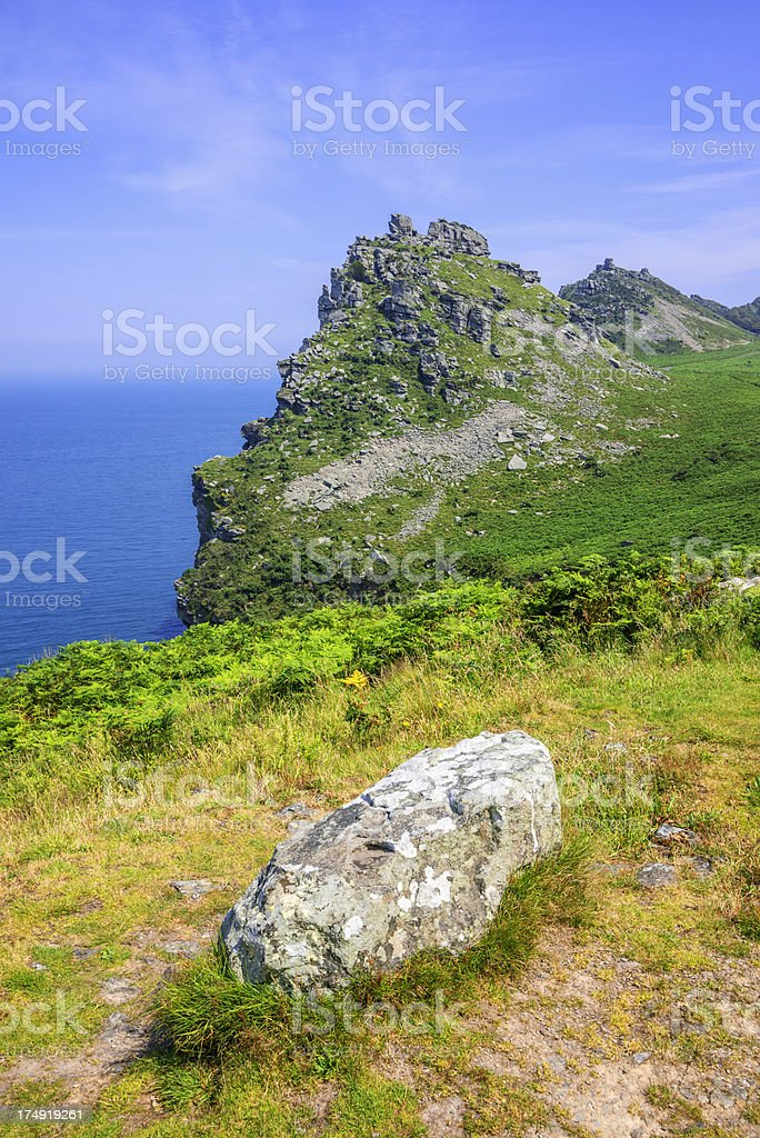 valley of the rocks royalty-free stock photo