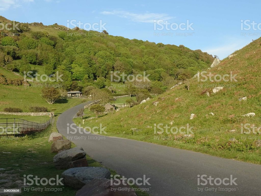 Valley of the Rocks stock photo