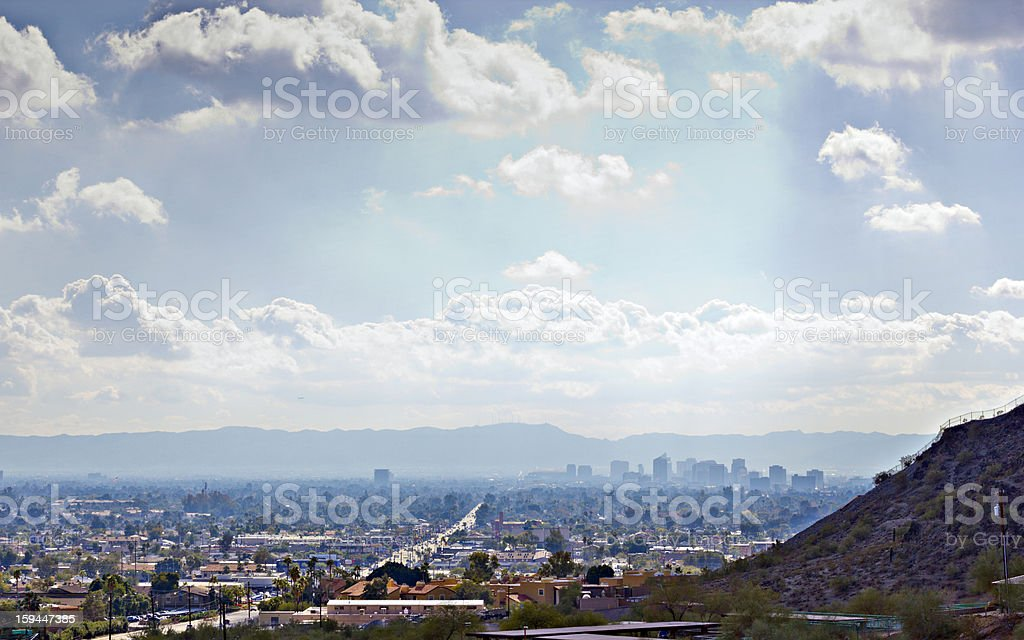 Valley of the Sun, Phoenix,  AZ royalty-free stock photo