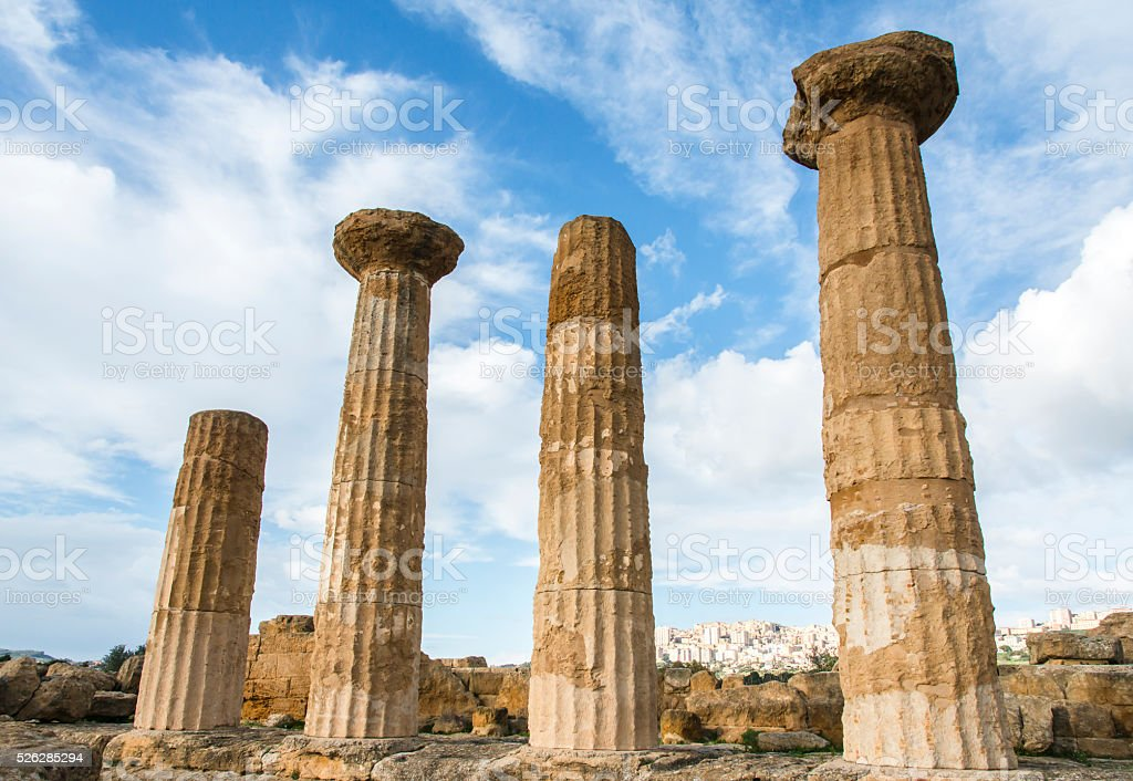 Valley of the Temples. Archaeological Area of Agrigento. Sicily. Italy. stock photo