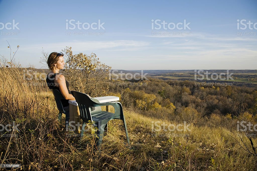 Valley over sight royalty-free stock photo