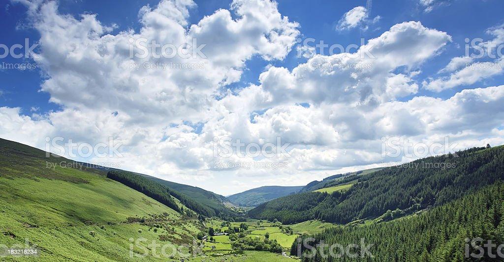 valley panorama stock photo