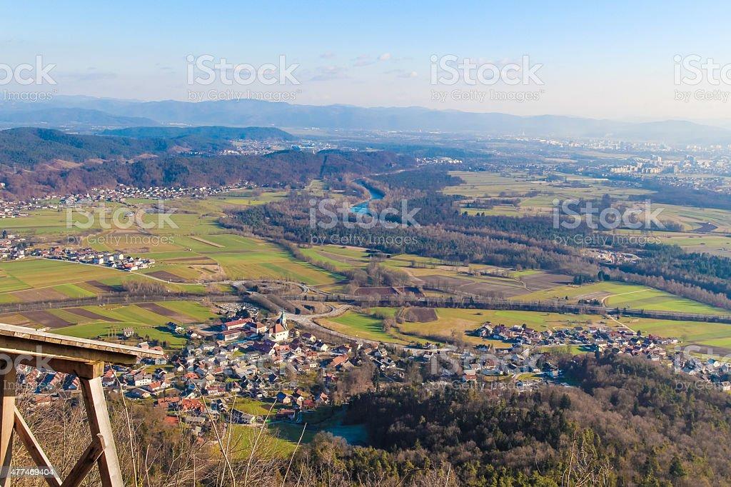 Valley. stock photo