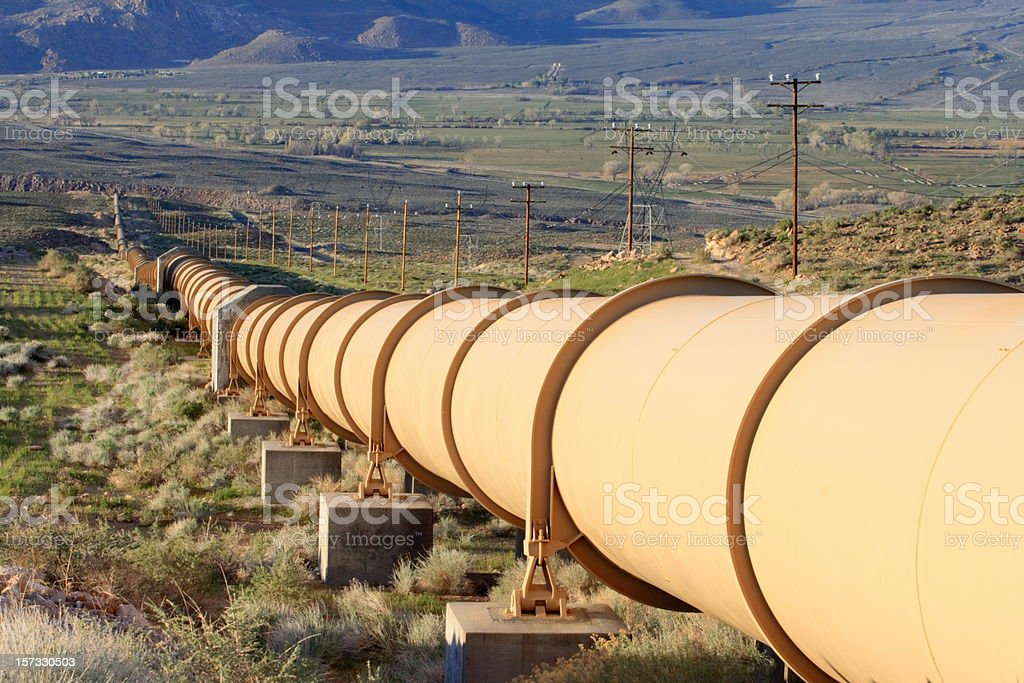 Valley Pipeline stock photo