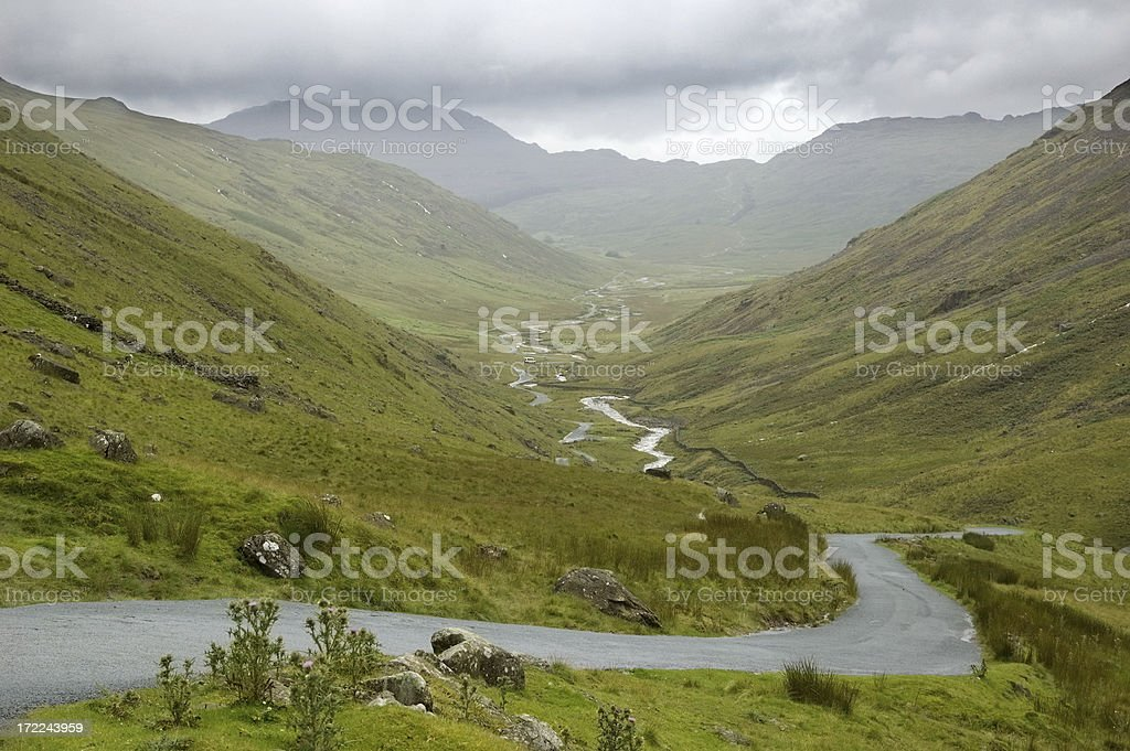 Valley road royalty-free stock photo