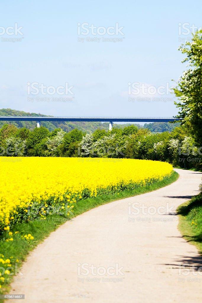 Valley Ruhr in Ruhrgebiet stock photo