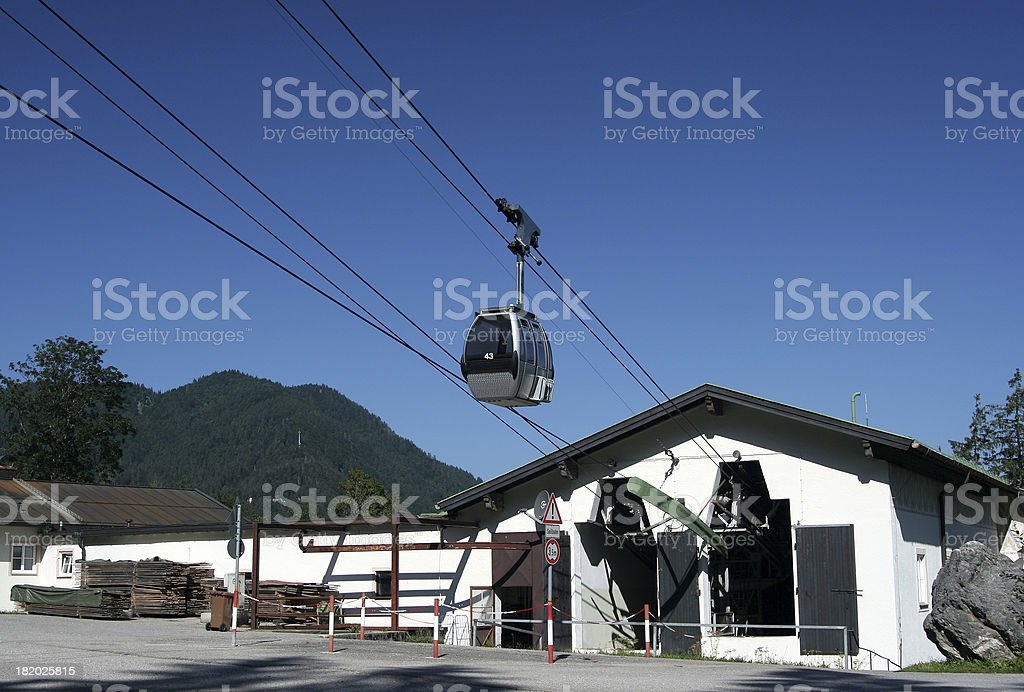 Valley station of a cableway royalty-free stock photo