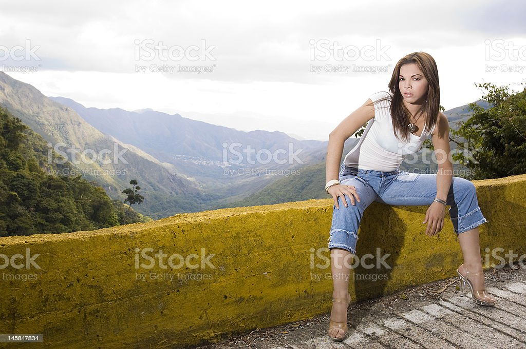 Valley Street Girl royalty-free stock photo