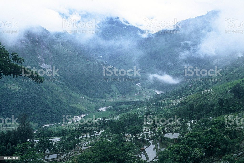 Valley - the ascent - Nepal royalty-free stock photo