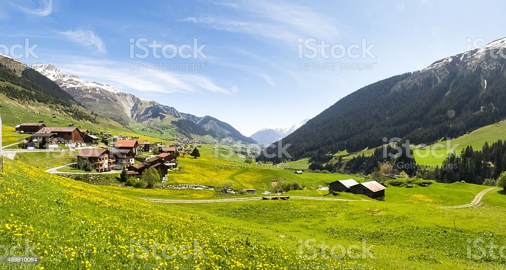 Valley View Surselva stock photo