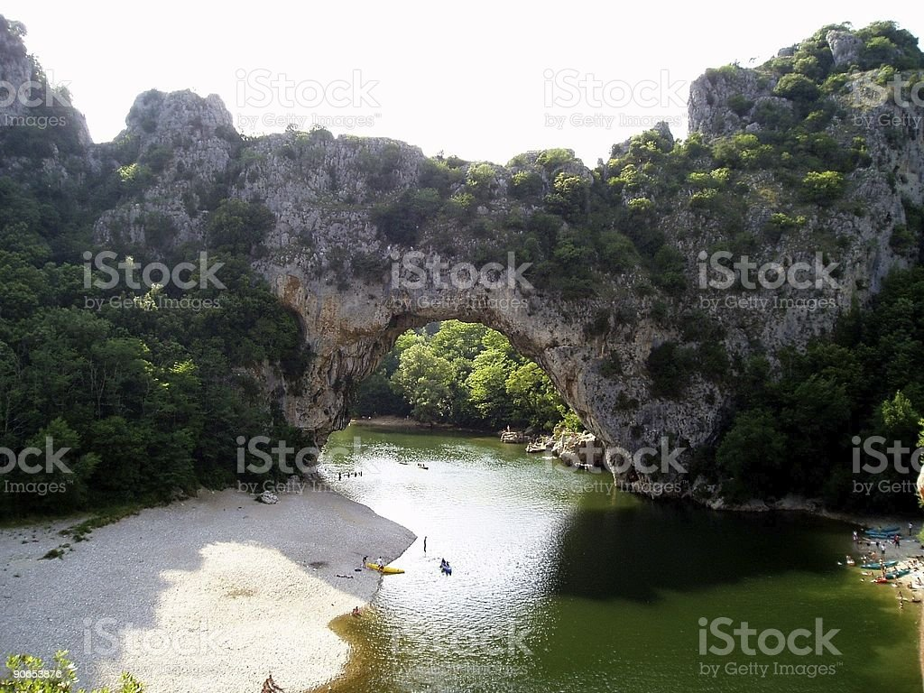 Vallon Pont d'Arc royalty-free stock photo