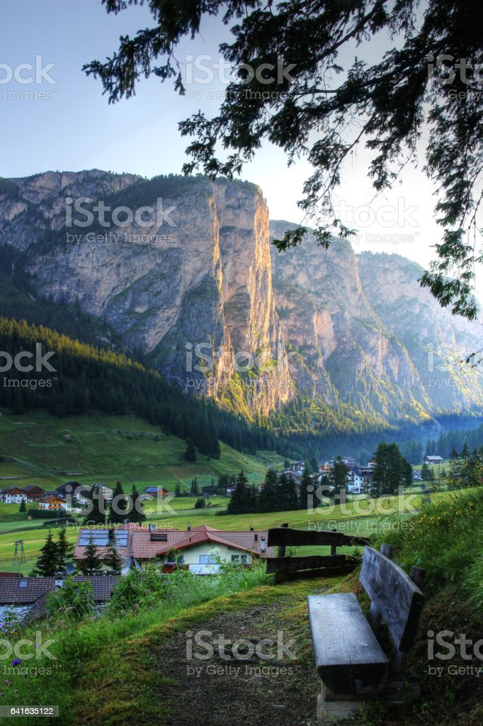 Vallunga valley, Dolomite, Italy stock photo