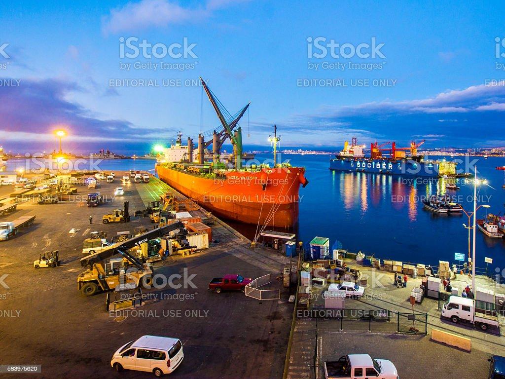 Valparaiso Harbor, Chile stock photo