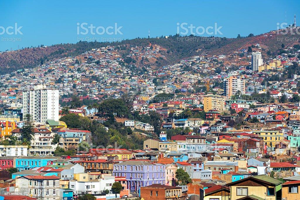 Valparaiso Hills stock photo