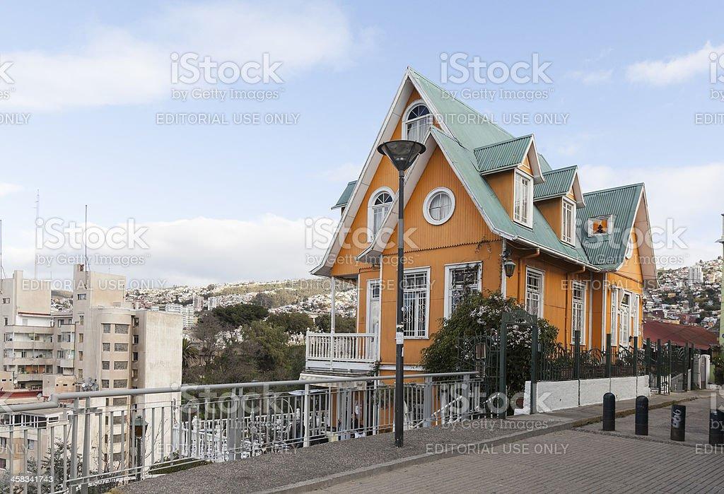 valparaiso house stock photo