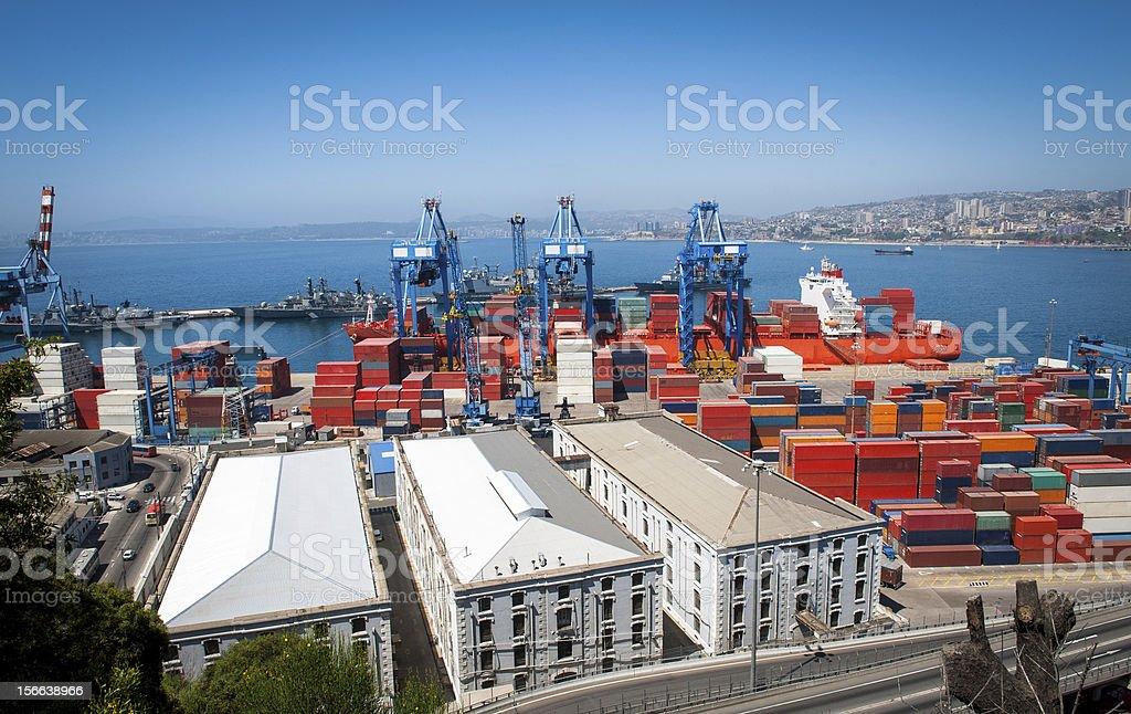 Valparaiso port activity royalty-free stock photo